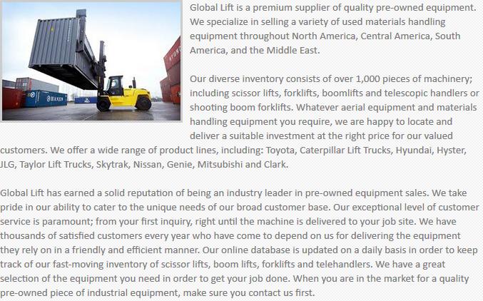 Global Lift Equipment Phoenix